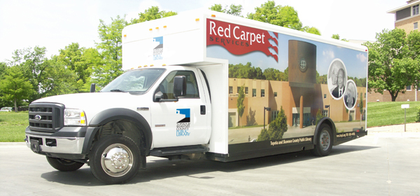 Red Carpet Delivery Vehicle