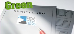 report card image with the word green on it