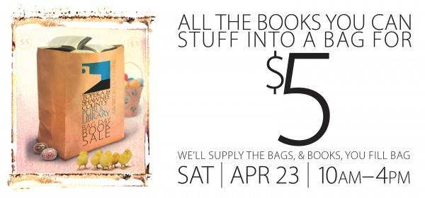 graphic for bag day book sale