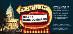 Dark Command showing on the lawn of the state capitol