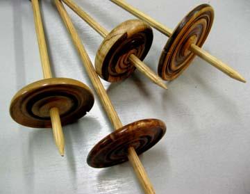 wooden drop spindles