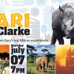 On Safari with Gary K Clarke will be July 7 at the library
