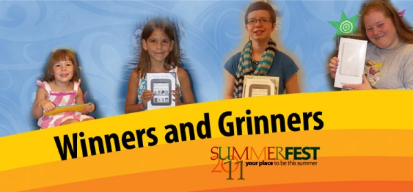 Grand prize winners of the Summer reading program