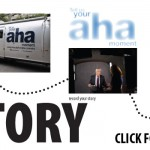 Ad for Aha Moment Tour stopping at the library August 22 and 23