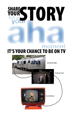 Ad for the aha moment tour
