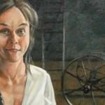 "Detail of ""MWS Rapunzel"" by Barbara Waterman-Peters; oil on canvas"