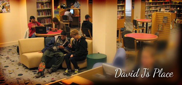 teens studying in David J's Teen Room