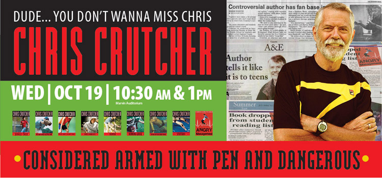 Chris Crutcher comes to the library Oct. 19