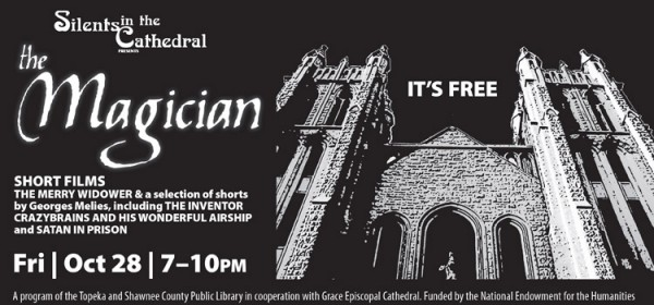 Come to Silents in the Cathedral, a night of Silent Film, October 28