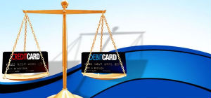 credit_vs_debit_card_business_powerpoint_templates_and_powerpoint_backgrounds_0311_title