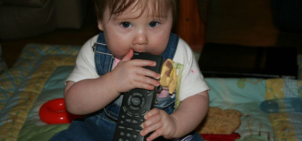 Baby With Remote - resized