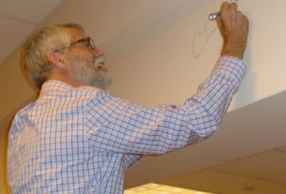 Chris signing wall 2