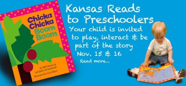Attend Kansas Reads to Preschoolers Nov. 15 and 16