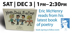 Poetry Reading by Eric McHenry Dec. 3
