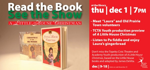 Bring the kids to the library's Little House Christmas presentation Dec. 1