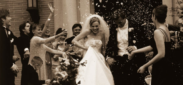 Bride & Groom leaving church - resized