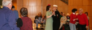 USO Dance: Ted Mize and Charity Rouse with other dancers