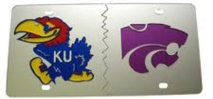 KU-KSU License Plate sized for blog