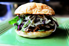 pork sandwiches with cilantro jalapeno slaw