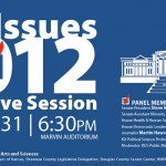 Come to Key Issues for the 2012 Legislative Session Jan. 31 at 6:30pm