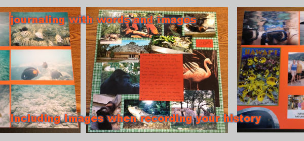 journaling images history