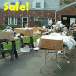 photo of a garage sale