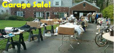 photo of a garage sale