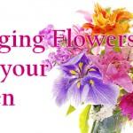 arranging flowers banner