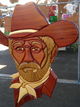 "Say ""Howdy!"" to this cowboy from Intarsia Woodworking."