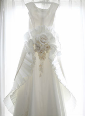 Wedding Dress on a hanger resized