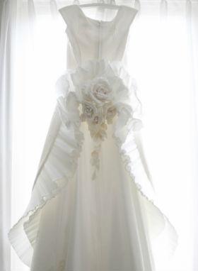 Wedding Dress on a hanger resized