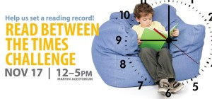 Help us set a reading record Nov. 17