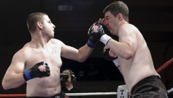 Matthew Polly in an MMA match with David Cexton