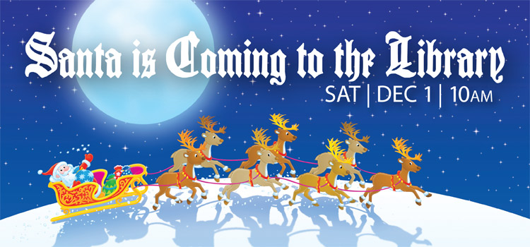 Storytime with Santa Dec. 1 at 10am