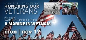Attend Honoring Our Veterans Nov. 12 at the library
