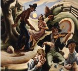 Thomas Hart Benton, The Ballad of the Jealous Lover of Lone Green Valley, det., 1943Spencer Museum of Art, University of Kansas