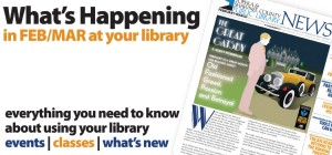 cover for february/march 2013 library news