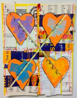 XXOO, 3rd Grader's Collage Inspired by Romare Bearden