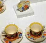 Art Deco tea set by Clarice Cliff