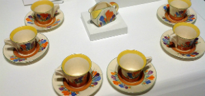 Art Deco tea set by Clarice Cliff