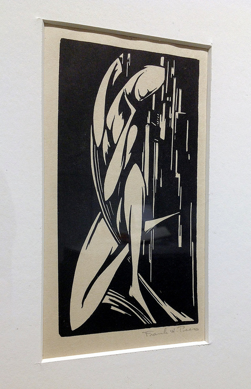 Topeka artist Frank Peers was known for his woodcuts in the Art Deco style.