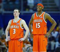 Carmelo Anthony and Gerry McNamara actually made Nate look halfway intelligent in 2003.