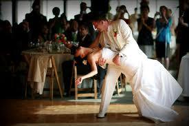 Dancing Groom dipping bride