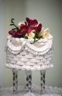 Cake top with flowers