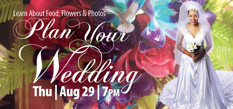 One day wedding workshop Aug. 29