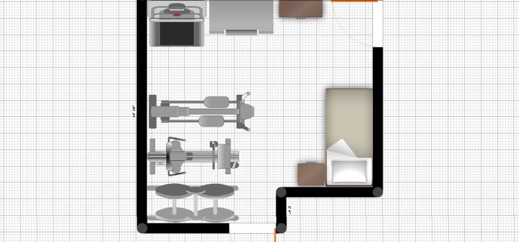 Simple plan for a storage room/work out room