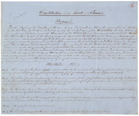 The preamble to the Topeka Constitution