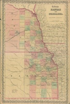 kansas map from 1863