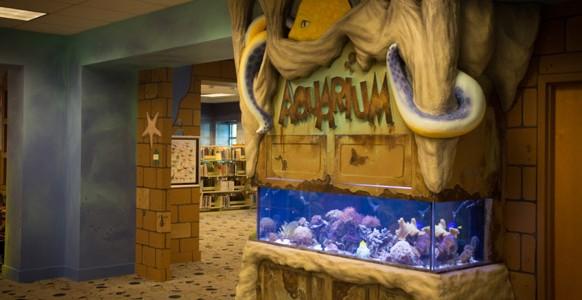 An octopus guards the aquarium
