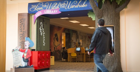 Entrance of the Kids Library